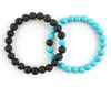 Blue turquoise and black lava relationship bracelets