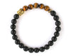 Buddha Tiger eye mens bracelet
