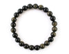 Golden obsidian men's bracelet