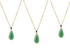 Green jade chain necklace
