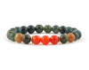 Indian agate and orange carnelian women's bracelet