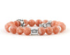 Libra zodiac bracelet with sunstone beads