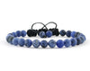 Matte sodalite adjustable bracelet