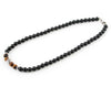 Mens black onyx personalized beaded necklace