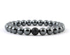 Men's magnetic hematite bracelet