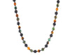 Men's tiger eye and turquoise necklace