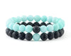 Mint and black matching couple bracelets