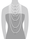 Clear crystal chain necklace