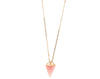 Rose quartz pyramid point necklace