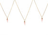 Rose quartz small gold chain necklace