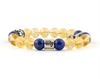 Scorpio zodiac bracelet with citrine and lapis lazuli beads