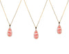 Strawberry quartz chain necklace