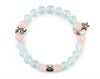 Taurus zodiac bracelet with opalite and rose quartz beads