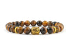 Tiger eye beaded men's Buddha bracelet
