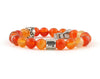 Virgo zodiac bracelet with carnelian beads