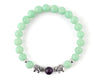 Women's bracelet with mint jade and elephant beads