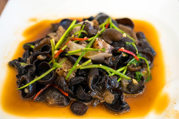 Spicy Black Ear Fungus and Sea Cucumber