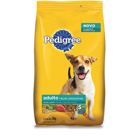 raã§ã£o pedigree para raã§as pequenas adultos 3kg