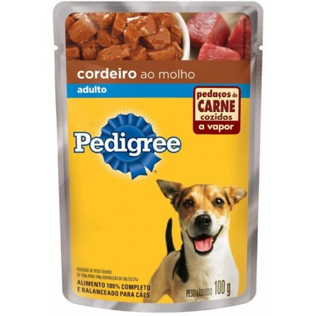 pedigree sache adulto cordeiro 100g