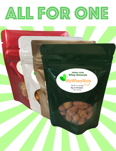 Combo Pack - Almond and All Peanut Flavors - 4-pack of 1.5oz Bags