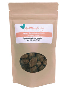 Pumpkin Spice Flavor, Whey Protein Almonds - 9g of Protein for each 1.0oz Serving