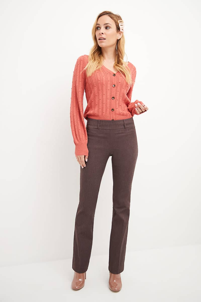 Ease into Comfort Fit Barely Bootcut Stretch Pants