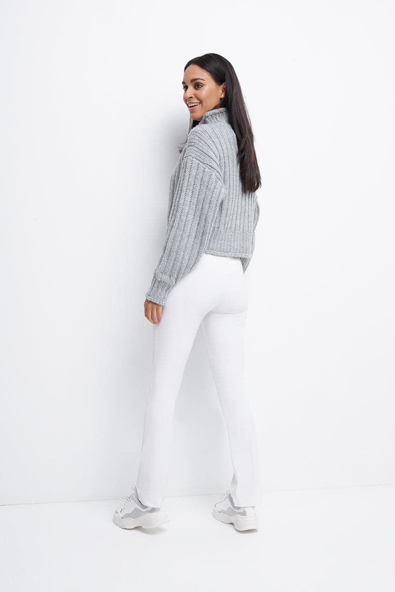 Straight leg dress pants with tummy control