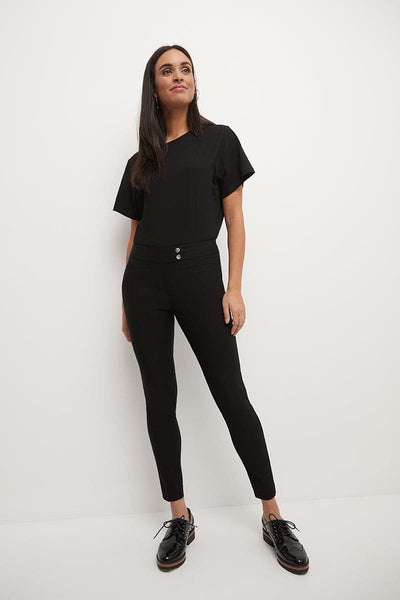 Slim ankle pants with snaps