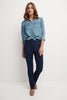 Pull-on Straight Leg Jeans with 5 real pockets