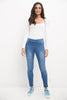 Skinny Pull-On Jeans with 5 Pocket Styling