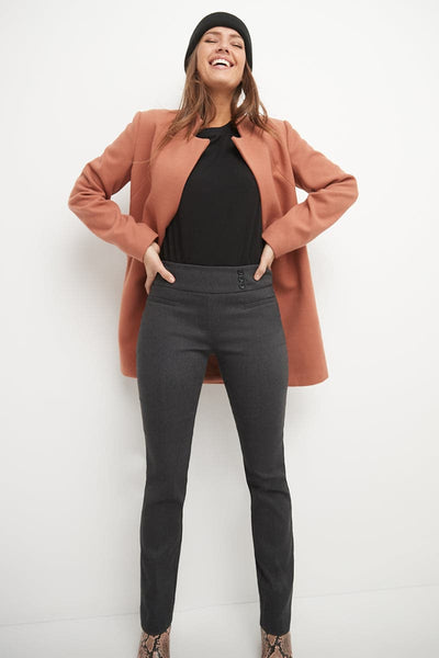 Straight classic pants with tummy control and pockets