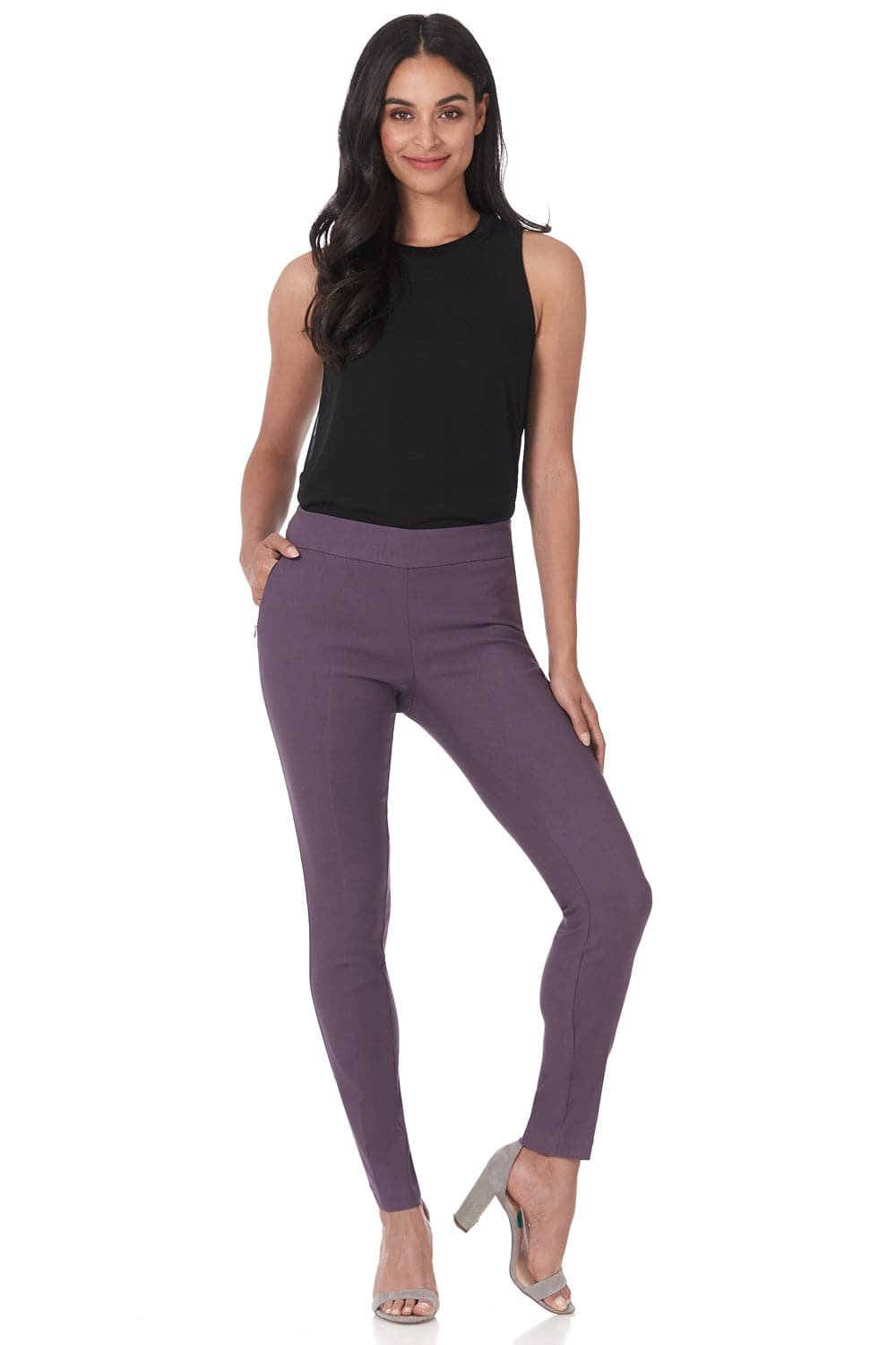 Pull-on skinny dress pants