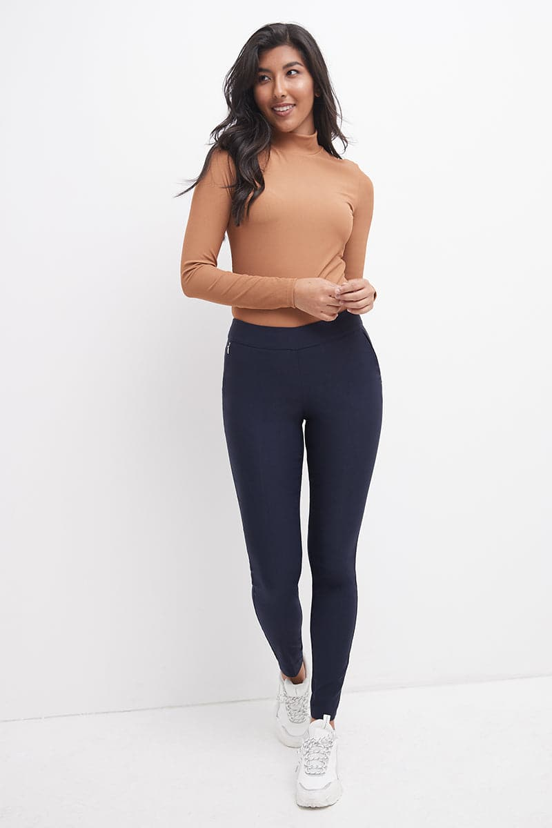 Ease into Comfort Modern Stretch Skinny Pant with Tummy Control and Zipper Pockets