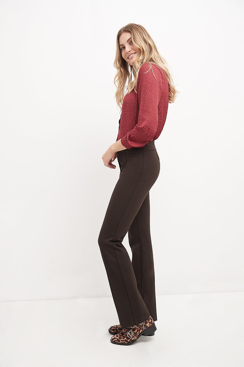 Secret Figure Pull-On Knit Bootcut Pant with Tummy Control