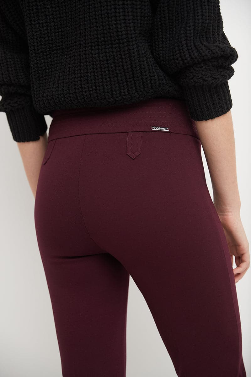 Pull-on Bootcut Pants with Tummy Control