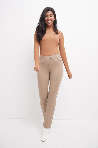 Secret Figure Pull-On Knit Straight Pant with Tummy Control