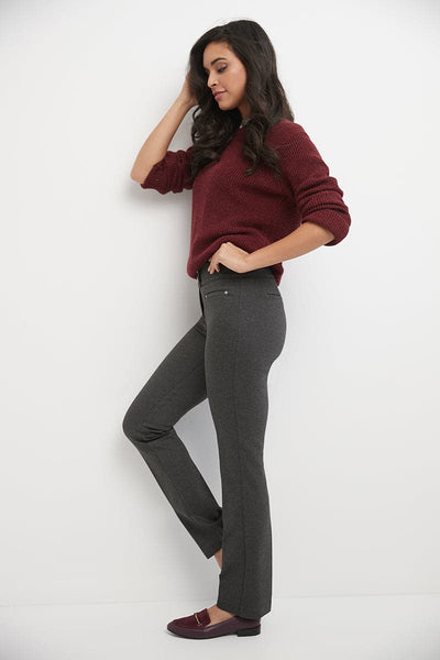 Pull-on Straight Pants with Tummy Control
