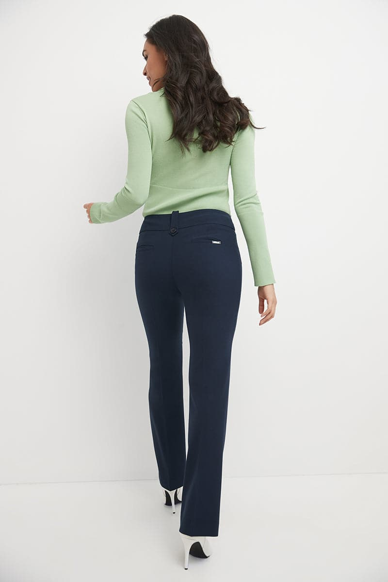 Smart Desk to Dinner Stretch Bootcut Pant with Tummy Control