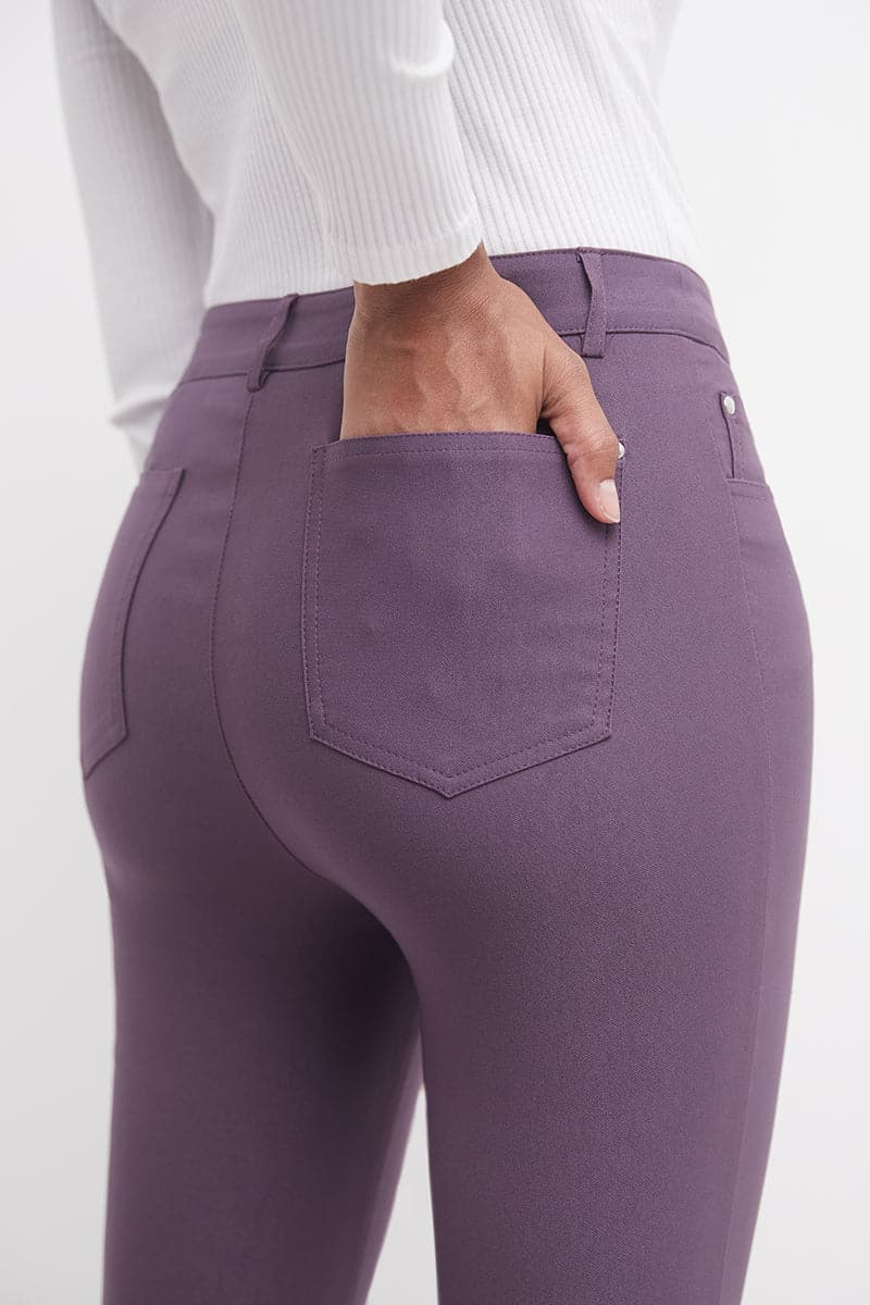 Stretch 5 pocket straight leg dress pants