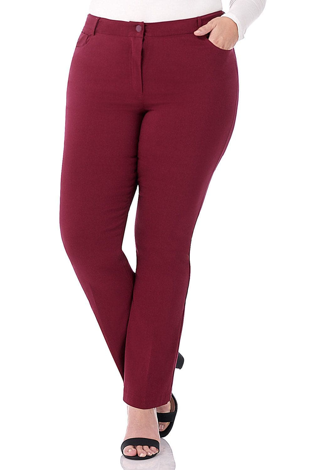 Curvy Tummy Control Pants with 5 Pockets
