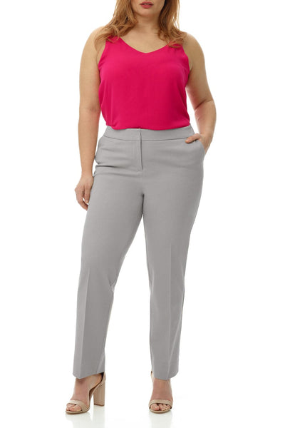 Curvy Tummy Control Work Pants with Real Front Pockets