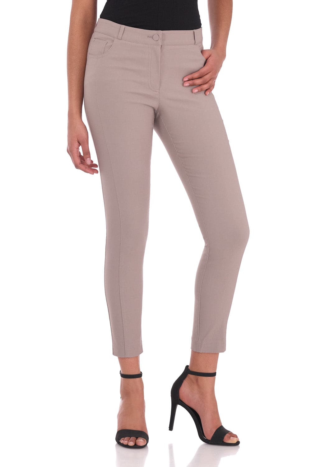 Stretch Ankle Pants with 5 Pockets