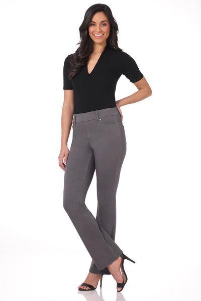 Pull-on Bootcut Jeans with Tummy Control