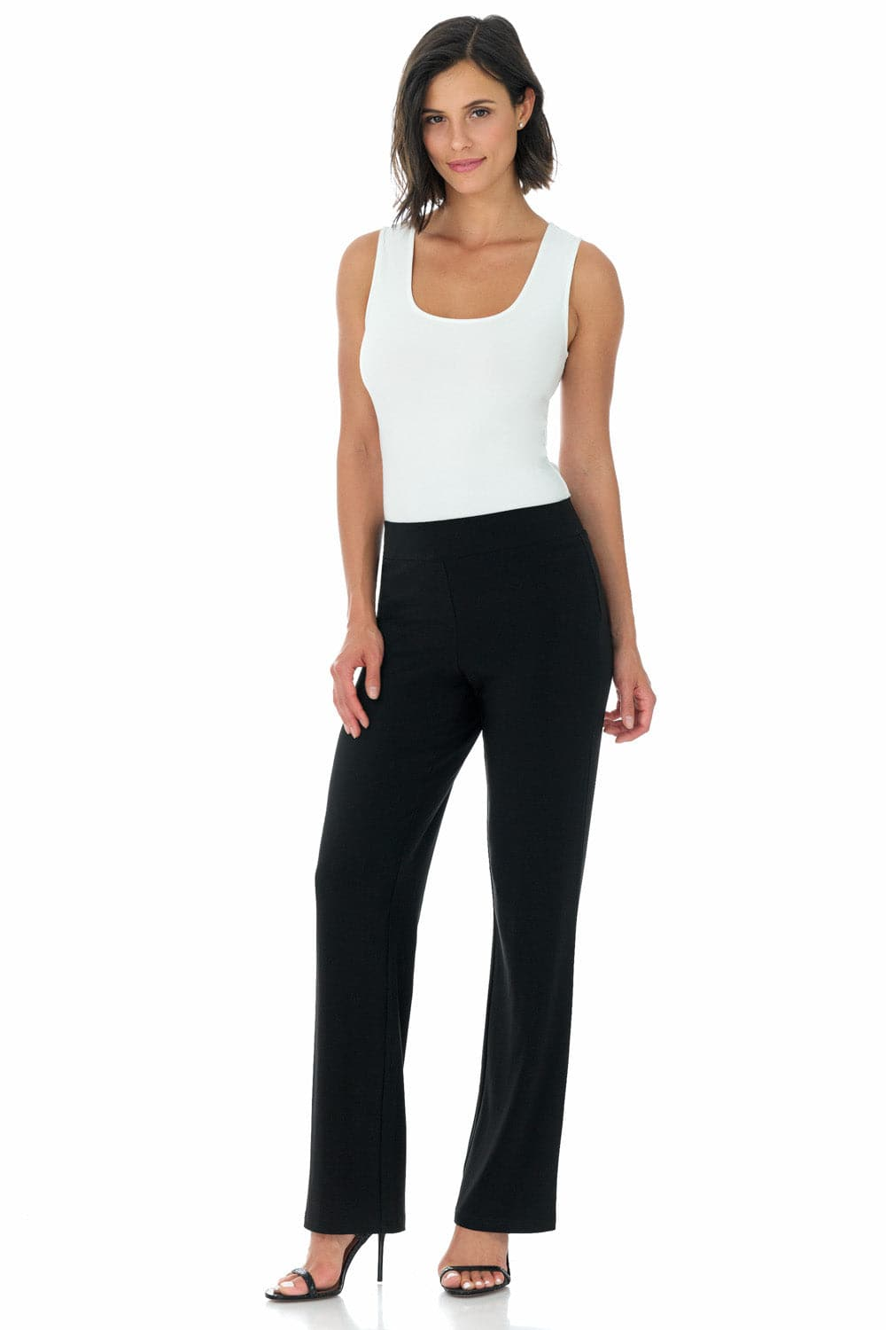 Travel-in-Style Wrinkle Resistant Straight Leg Dress Pants