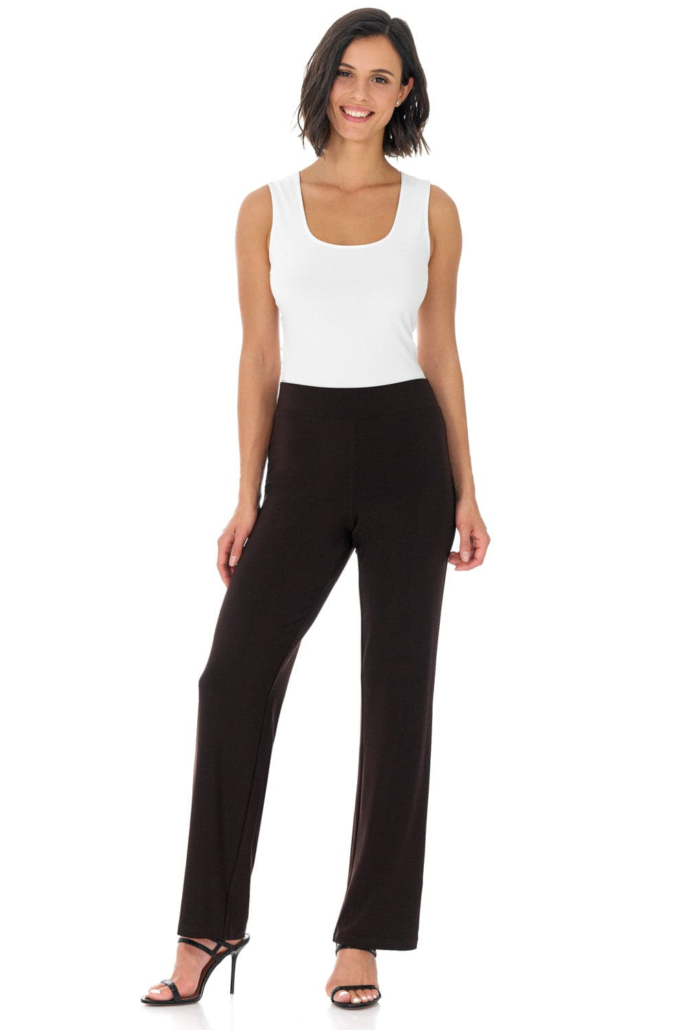 Comfy Collection Wrinkle-Resistant Straight Leg Pants