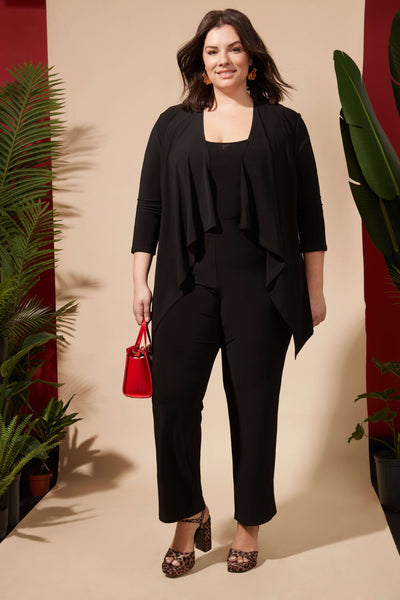 Comfy Collection Curvy Straight Leg Dress Pants