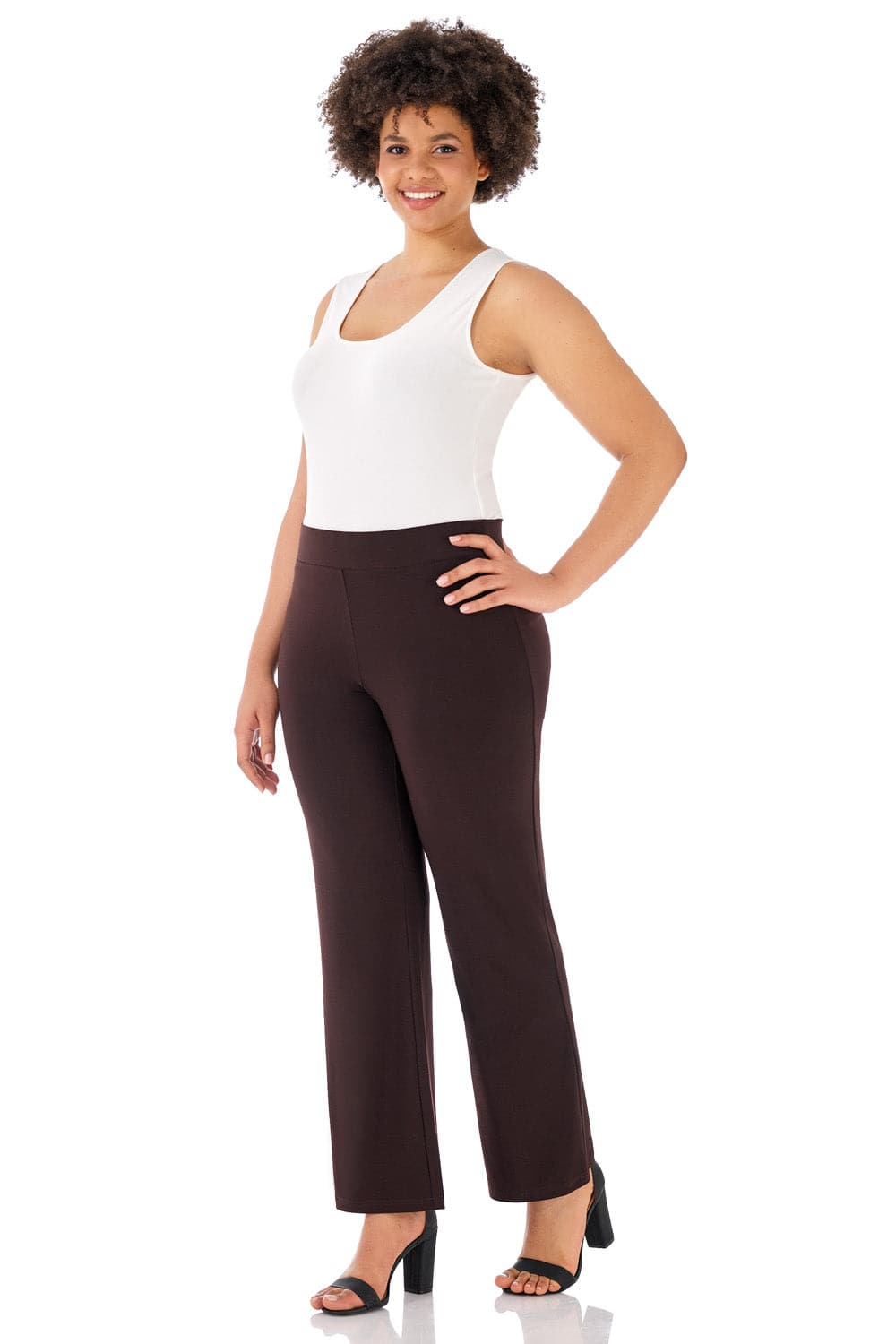 Travel-in-Style Curvy Straight Leg Dress Pants