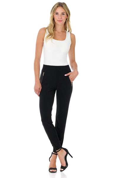 Travel in Rekucci Style - Women's Soft Chic Pant with Zipper Pockets