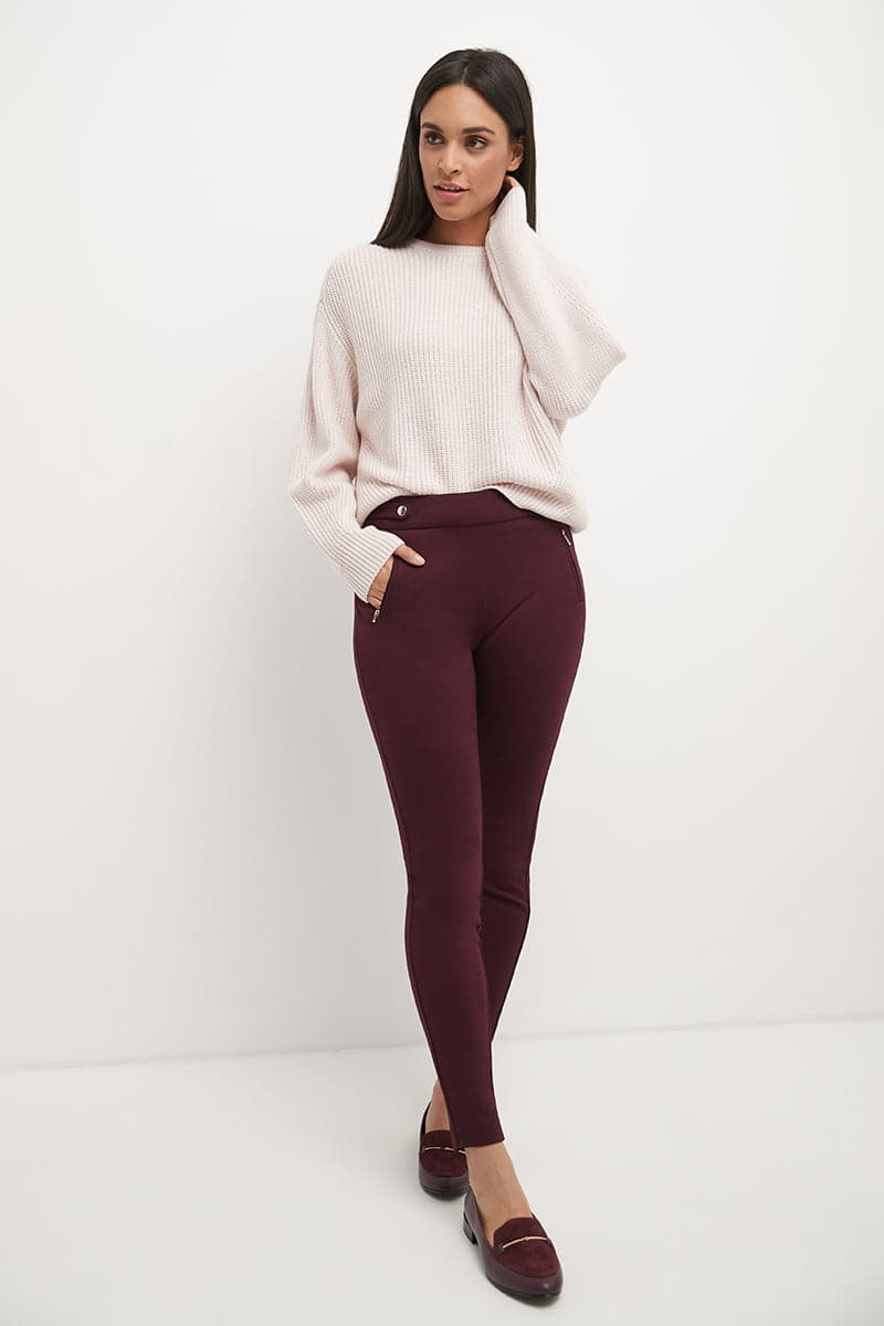 Secret Figure Pull-On Knit Skinny Pant