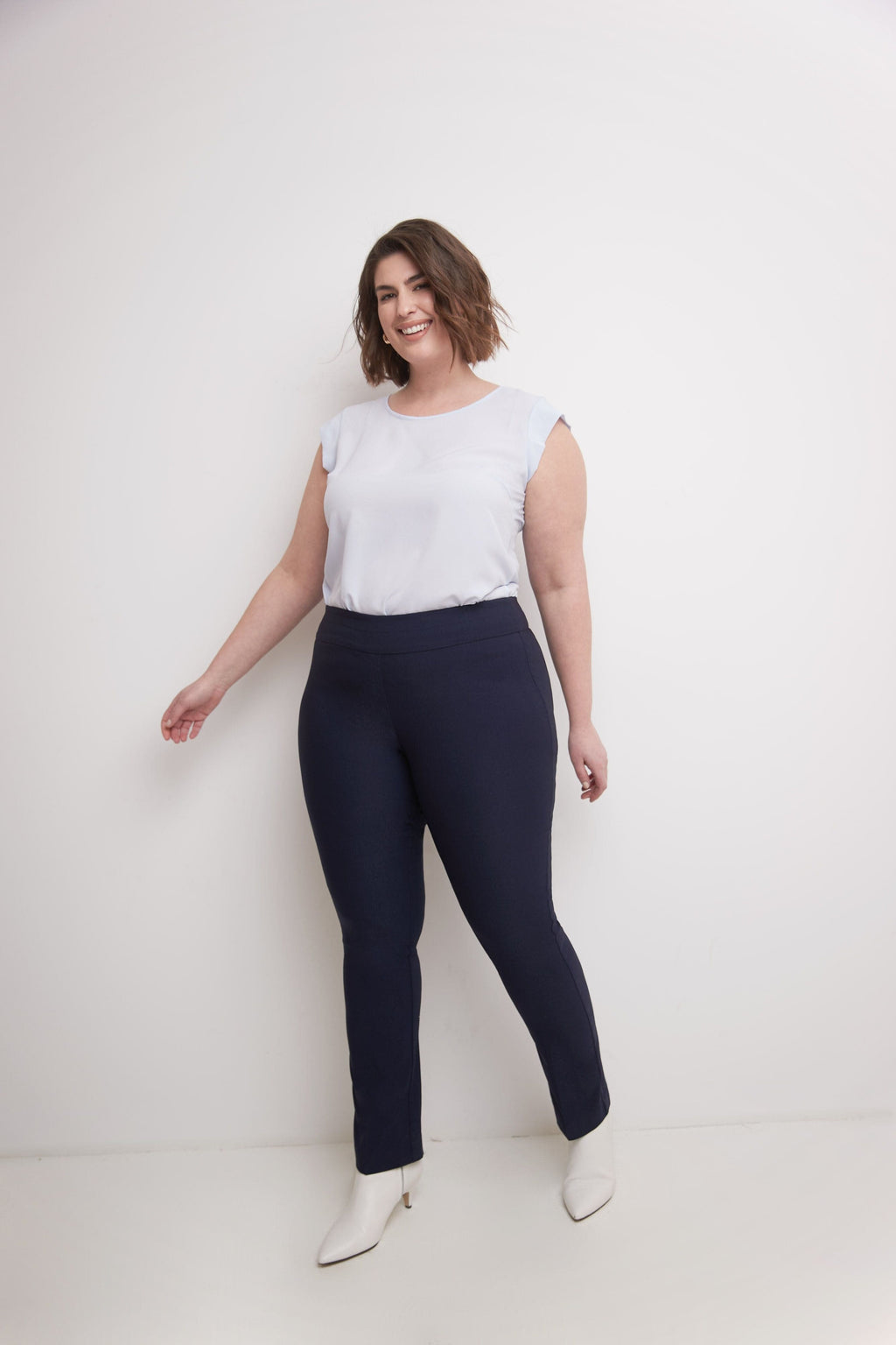 Curvy Tummy Control Straight Leg Pants